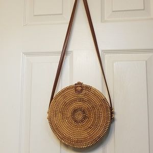 Handbags - Round Rattan purse